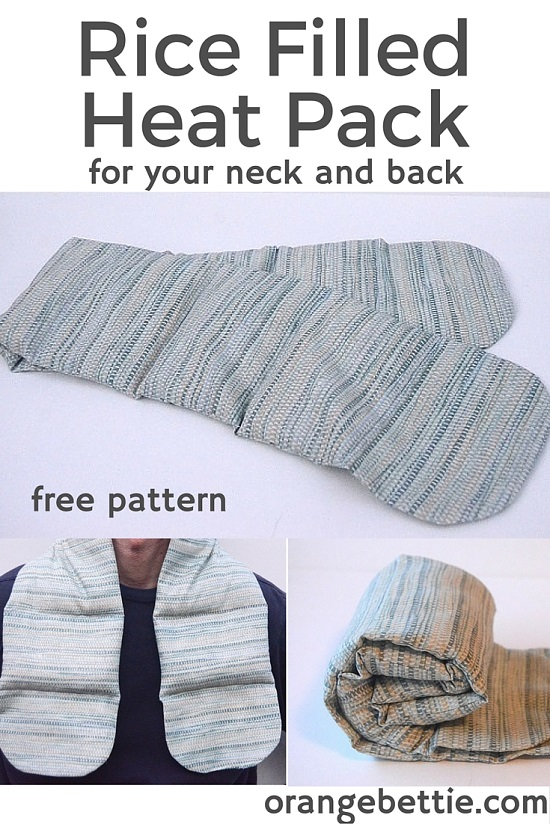 Rice filled heat pack with handles - FREE PATTERN