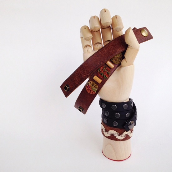 Make gorgeous leather bracelets from Goodwill belts! See the tutorial at Orange Bettie.