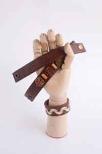 Upcycled Leather Belt Bracelet – TUTORIAL
