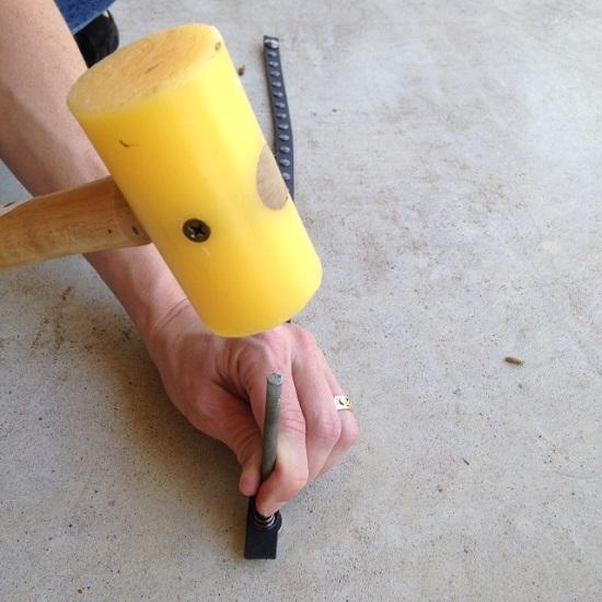 Upcycled Leather Belt Bracelet - Tutorial by Orange Bettie