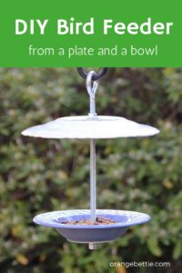 Tutorial: DIY bird feeder from a plate and bowl