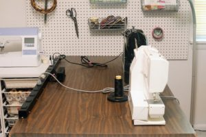 How I conquered the cords in my sewing studio