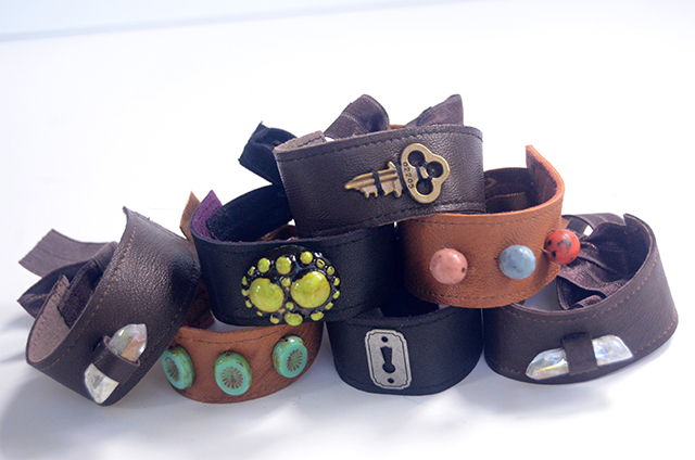 Leather & Elastic Cuff Bracelets - TUTORIAL