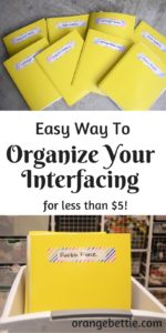 How I organized my interfacing – for less than $5!