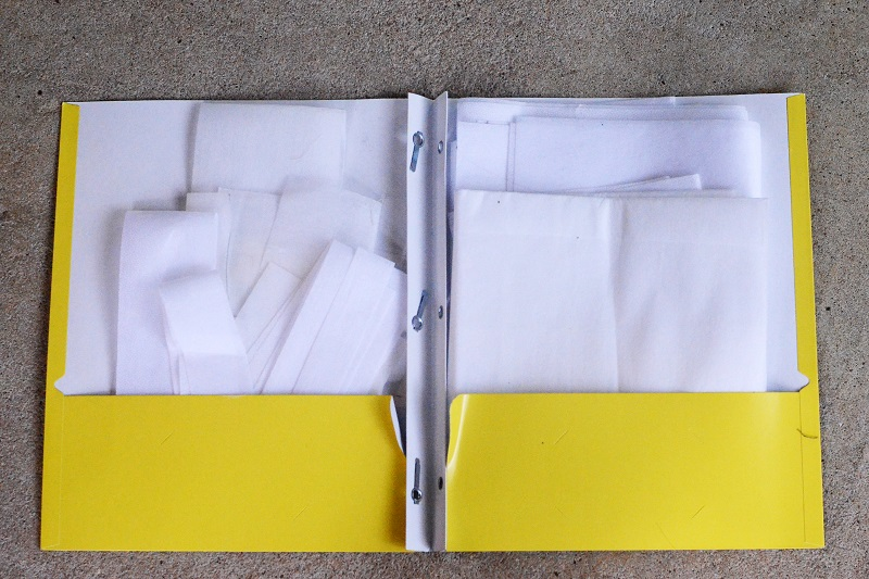 Easy way to organize your interfacing - for less than $5!