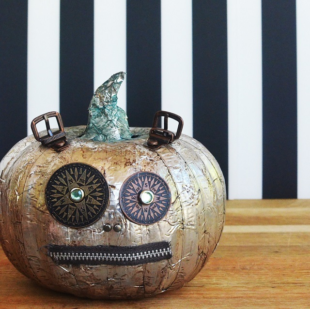 Steampumpkin from a dollar tree foam pumpkin - TUTORIAL