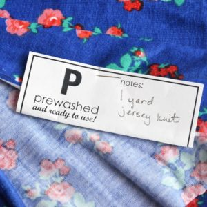 'Prewashed' labels for your fabric stash – free printable