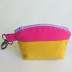 Color Block Mini Zip Pouch - Tutorial