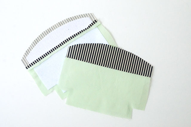 Color Block Curve Top Cosmetic Bag Tutorial
