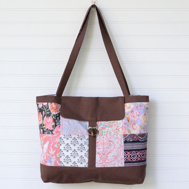 Charm Square Satchel Tote Sewing Tutorial