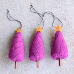 Upcycled Sweater Christmas Tree Ornaments - Free Pattern