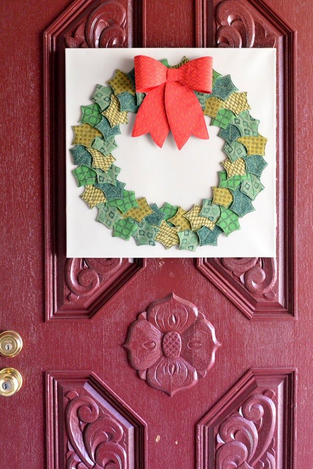 Fabric and Felt Holly Wreath - Free Pattern