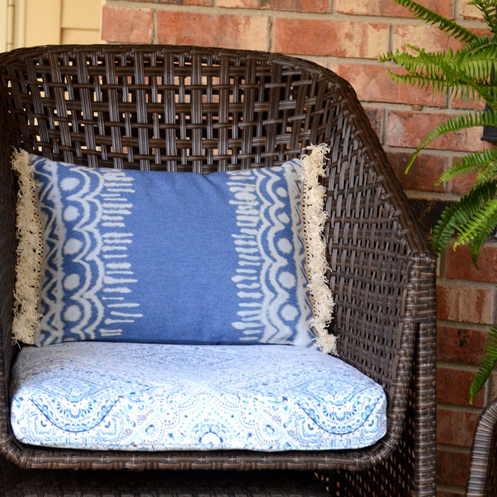 DIY Boho Bleach Denim Pillow - Tutorial - Orange Bettie