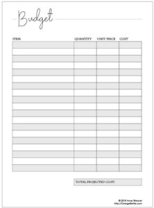 Free Printable Service Project Planner Pages