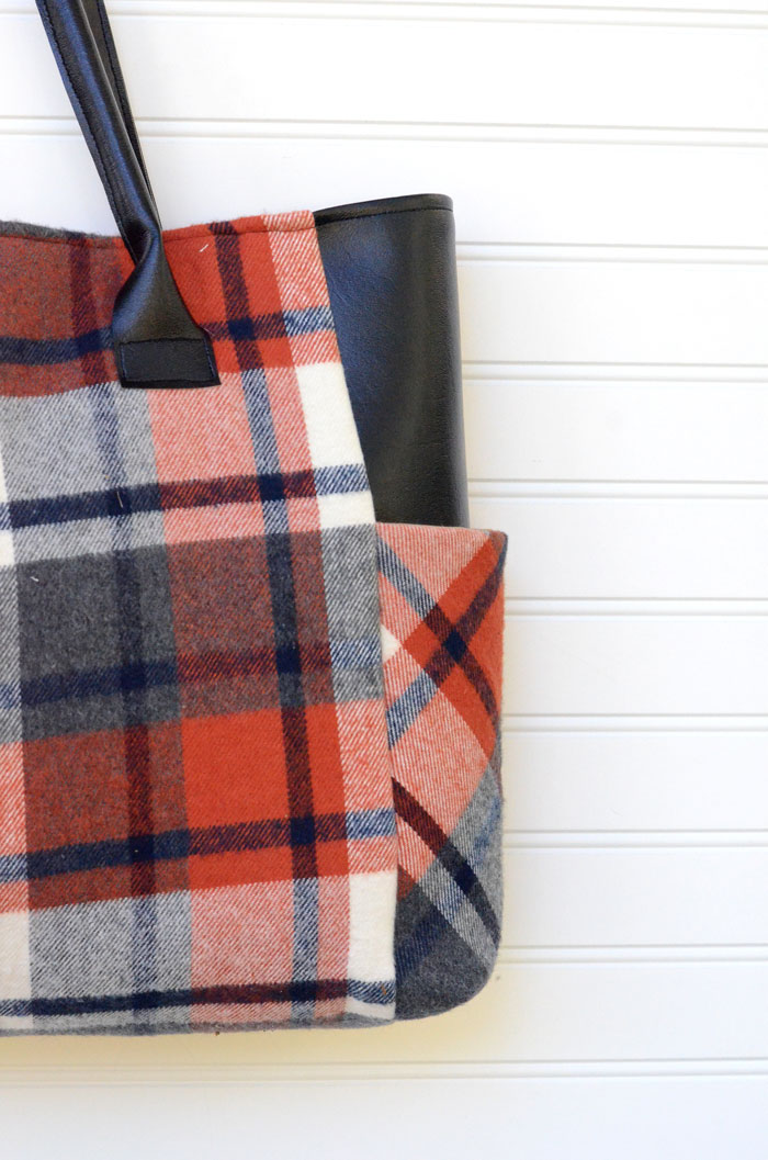Plaid Flannel Fall Tote Bag - Sewing Tutorial