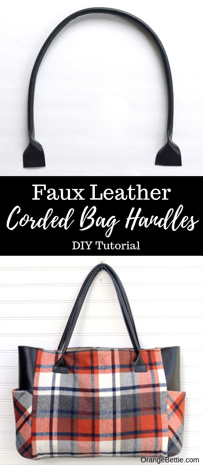 Faux Leather Corded Bag Handles - DIY Tutorial