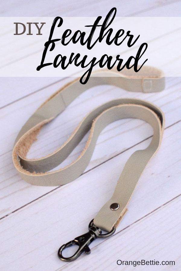 DIY Leather Lanyard - tutorial