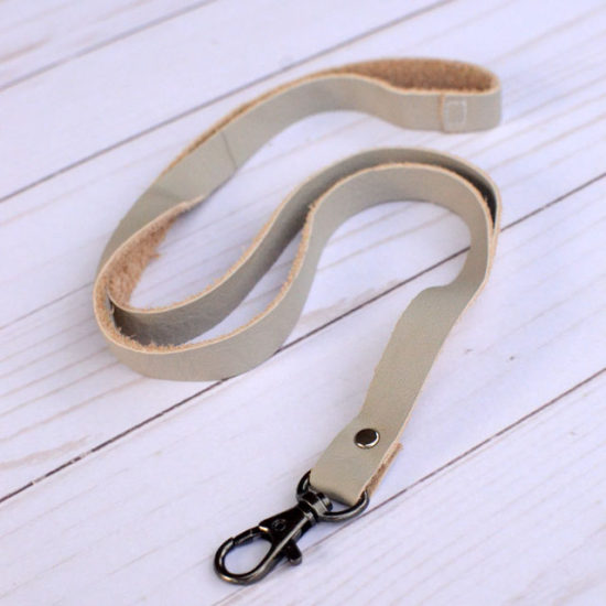 DIY Leather Lanyard - tutorial