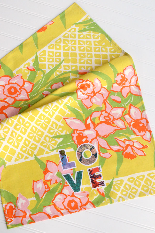 Love Applique Tea Towel - Sewing Tutorial