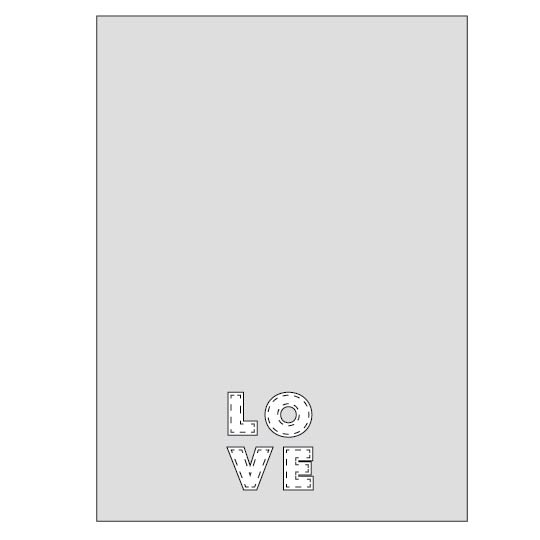 Love Applique Tea Towel - Sewing Tutorial