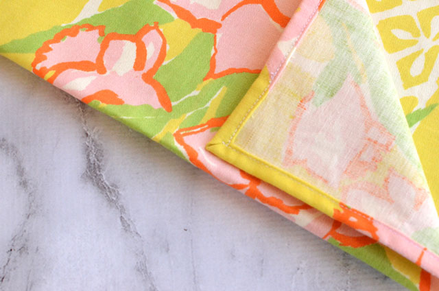 Mitered Corners on a Double Fold Hem - Sewing Tutorial