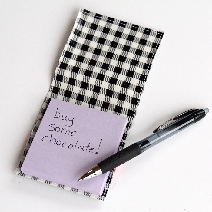 Oilcloth Post-It Note Holder - Easy Sewing Tutorial