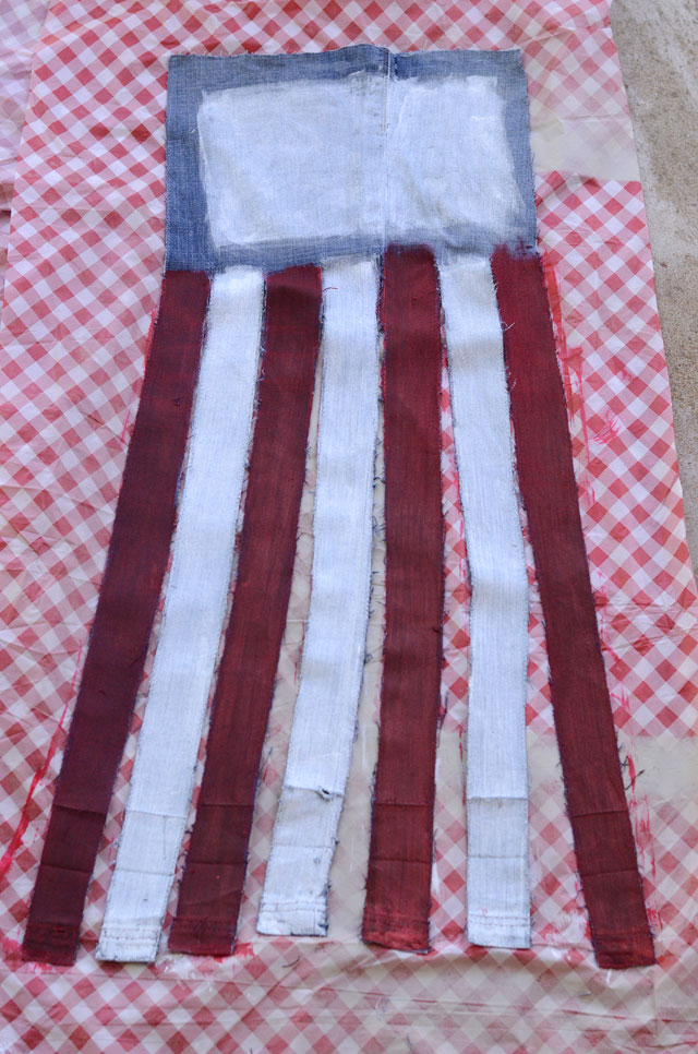 Upcycled Jeans Flag Banner - Easy Sewing Tutorial
