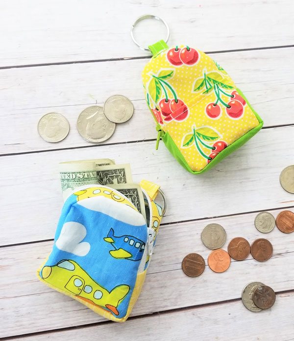 DIY Backpack Coin Pouch Pattern by Sew Simple Home