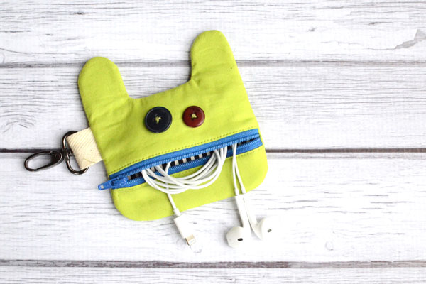 Little Monster Earbud Pouch by Orange Bettie