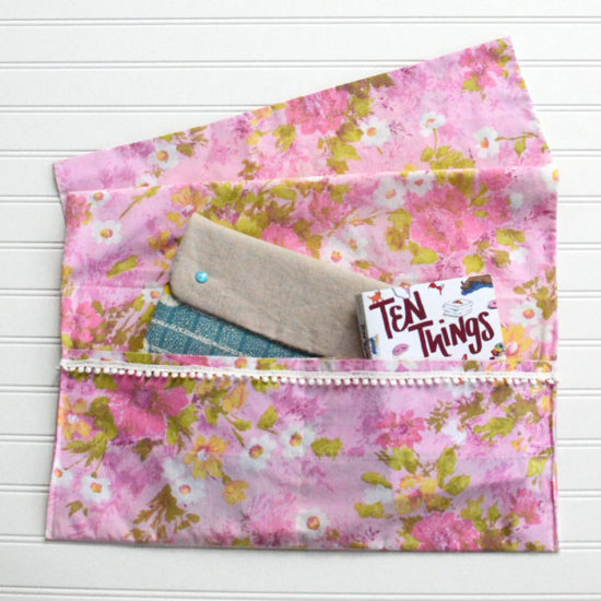 Vintage Pillowcase Bed Caddy - Sewing Tutorial