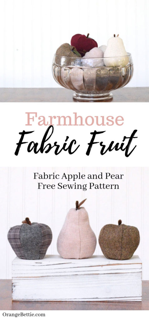 Farmhouse Fabric Fruit – Apple and Pear Free Sewing Pattern