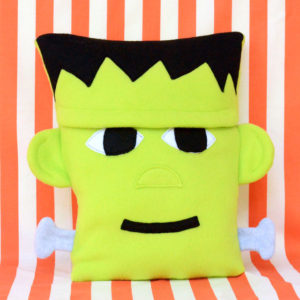Fleece Frankenstein Halloween Pillow - Free Sewing Pattern