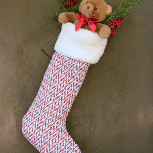 Large Christmas Stocking to Hang on a Door - Free Sewing Pattern