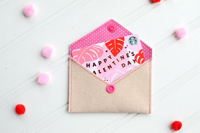 Love Letter DIY Gift Card Envelope – Free Sewing Pattern