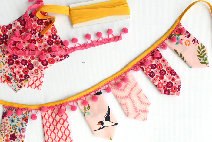 Charm  Square Bunting Banner Easy Sewing Tutorial by Orange Bettie