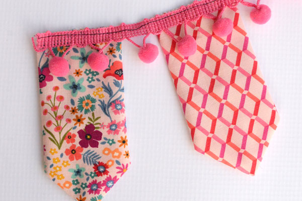 Charm  Square Bunting Banner Easy Sewing Tutorial - step 7