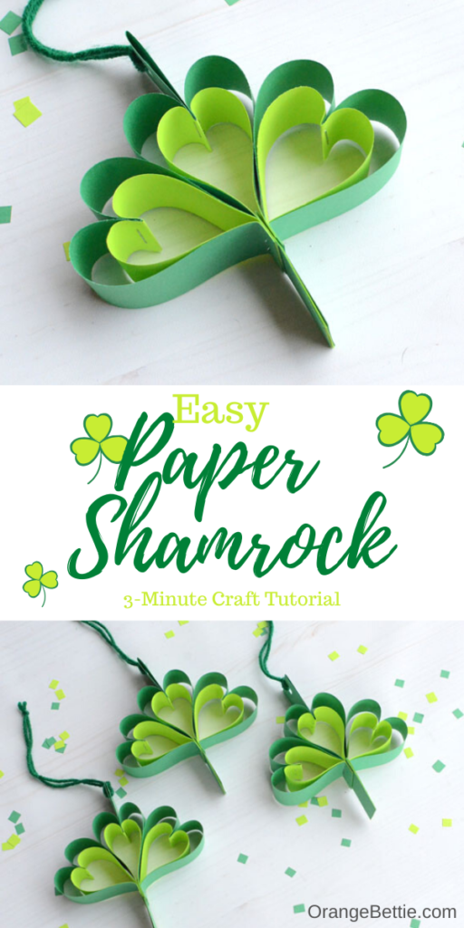 Easy Paper Shamrock – 3 Minute Craft Tutorial