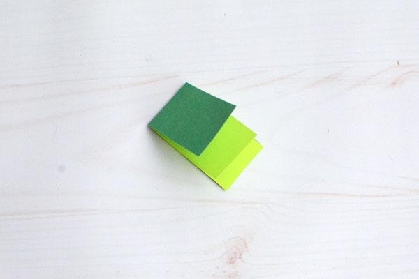 Easy Paper Shamrock, step 10