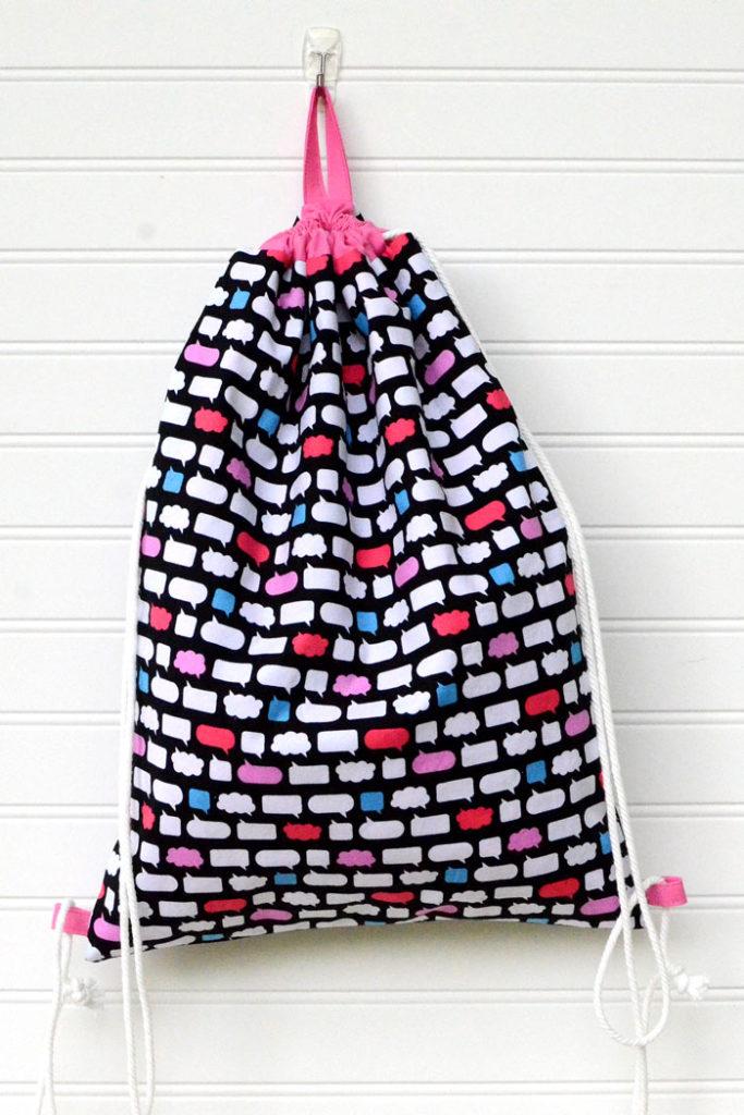 Easy DIY Drawstring Backpack Sewing Tutorial