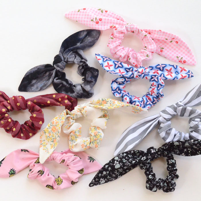 Beginner sewing projects: Quick and easy things to sew - know bow scrunchie