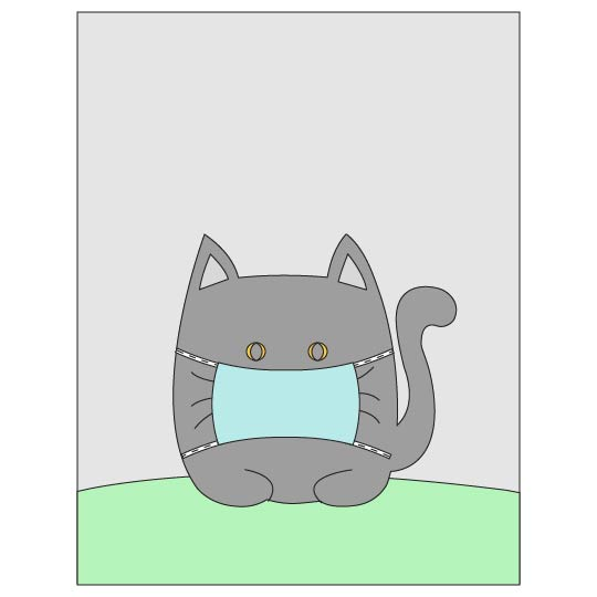 Cat in a Mask Social Distancing Banner - step 10