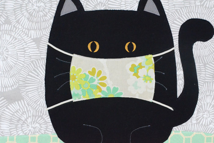 Cat in a Mask Social Distancing Banner - Free Sewing Pattern