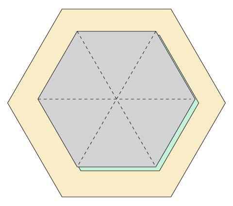 Modern Hexagon Fabric Coasters DIY step 1