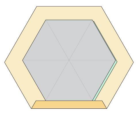 Modern Hexagon Fabric Coasters DIY step 2