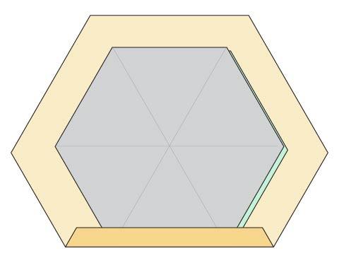 Modern Hexagon Fabric Coasters DIY  step 3