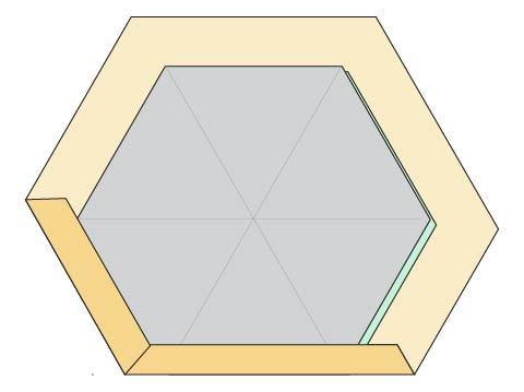 Modern Hexagon Fabric Coasters DIY step 4