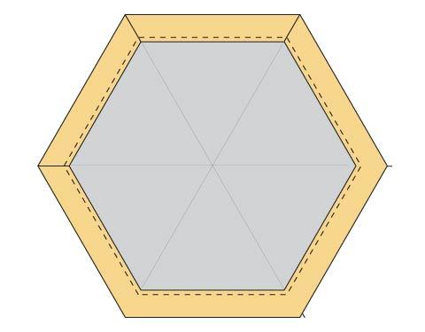Modern Hexagon Fabric Coasters DIY step 6