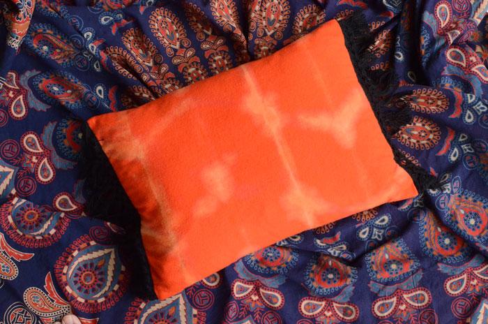 DIY Bleach Shibori Pillow – Sewing Tutorial by Orange Bettie