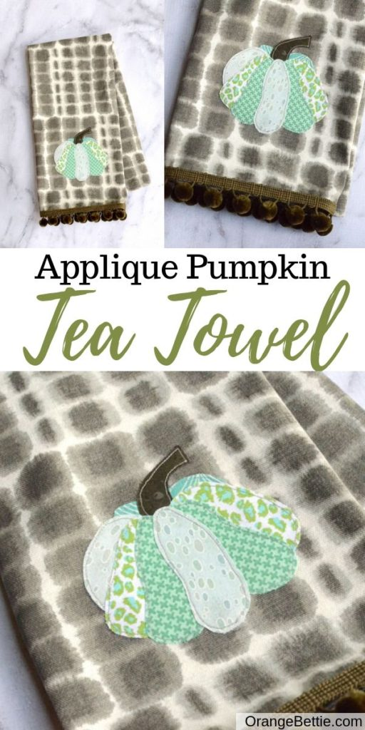 Applique Pumpkin Fall Tea Towel - Sewing Tutorial