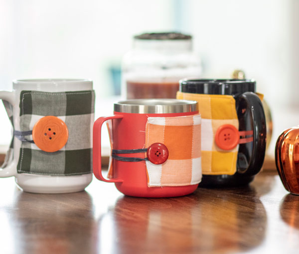 Fall mug cozy by Life Sew Savory
